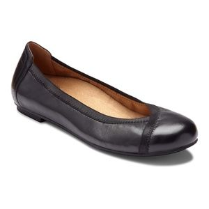 Vionic Women Black Leather Caroll Ballet Flats 11